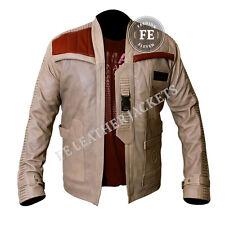 Men's Leather Jacket Celebrity Designer Look John Boyega Finn Star Wars