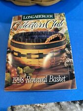 Longaberger Collectors Club 1998 Renewal Basket