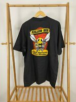 VTG 90s Jagermeister Killer Bee Black Single Stitch Short Sleeve T-Shirt Size XL