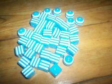 40 bleu boule et cubes Perles 17 cms Pour Collier Artisanat etc NEUF