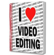 I Love Video Editing - A5 Notebook Pad Drawings Birthday Christmas Gift