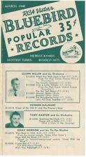 March 1940 RCA Victor Bluebird Popular Records Brochure - Big Bands, Jazz, Blues