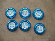 Lot of 6 Old Morrison Cove Coop Dairy Blue Paper Milk Bottle Caps Altoona Pa