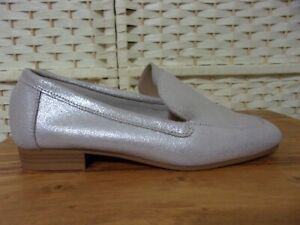 Dune size 3 (36) silver leather loafer shoes.