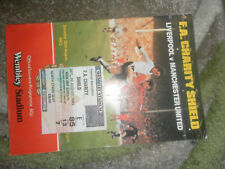 1983 CHARITY SHIELD MANCHESTER UNITED V LIVERPOOL + MATCH TICKET