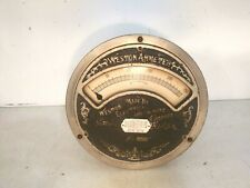 New listing Large antique Weston ammeter Weston electrical instrument company no 35331 gauge