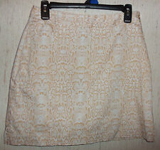 EXCELLENT WOMENS EP PRO BEIGE & WHITE REPTILE PRINT SKORT  SIZE 4
