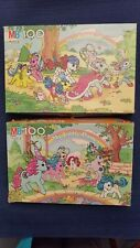 Vintage 1987 My Little Pony 100 Piece Jigsaw Puzzle MB Lot of 2 - Complete