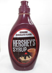 """Giant Collectible Hershey's Chocolate Syrup Bottle Coin Bank Oversize 18"""" Tall"""