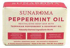 (3 Pack) SUNAROMA BAR PEPPERMINT OIL SOAP 8 Ounce