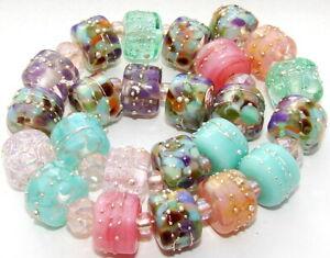 "Sistersbeads ""A-Martinique"" Handmade Lampwork Beads"