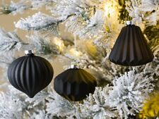 Bola de Navidad Bianca Negro 3er Set Decoración Tannenbaumschmuck Weihnach
