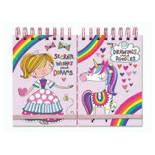 Princess & Unicorn Duo Cover Notebook Rachel Ellen Small Girls Doodles Drawings