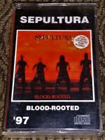 Sepultura ‎– Blood-Rooted. Cassette Tape *Plays Well* Thrash  Angel's Of Hell