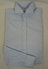 PAUL ROSEN Langarmhemd Hemd, Herrenhemd Baumwolle blau-weiß gestreift Gr. KW 41