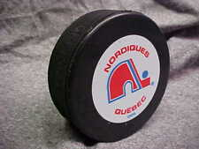 NHL Vintage Quebec Nordiques Logo In GlasCo Official Souvenir Hockey Puck