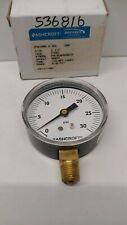 New Old Stock Ashcroft 2 12 0 30 Psi 14 Pressure Gauge 25w1005 H 02l 30