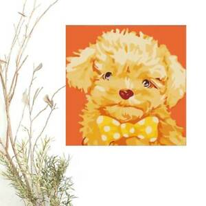 Paint By Numbers Kids, DOG 2 Animal, DIY Painting Kit Adult Beginners Home Decor