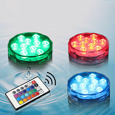 Swimming Pool Remote Control RGB LED Light Multicolor Underwater Lamp Waterproof