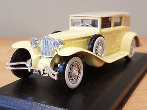 Cord L 29 Berline 1929 Die Cast 1:43 Scale Collectable Yellow & Cream Boxed