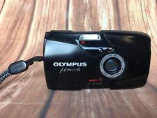 Olympus Mju II Black Multi AF All-Weather 35mm Camera with 35mm F2.8 lens VGC