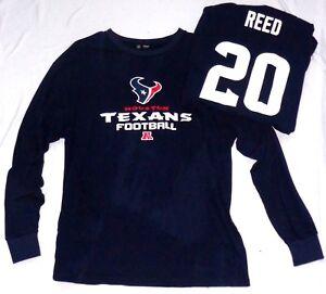 Houston Texans Football Ed Reed 20 Long Sleeve T-Shirt