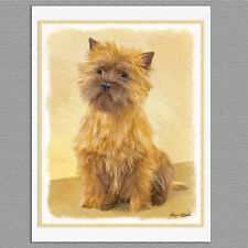 6 Cairn Terrier Dog Blank Art Note Greeting Cards