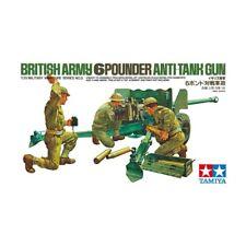 BRITISH 6 POUNDER (6 PDR) ANTI TANK GUN W/CREW #35005 1/35 TAMIYA