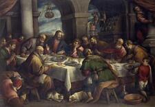 BEST ART #  Bassano Francesco The Last Supper print painting ON CANVAS # 36""