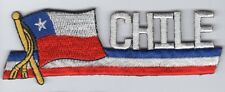 Chile Flag Patch Embroidered Iron On Applique