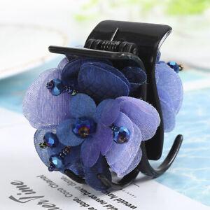 Fashion Women's Flower Barrette Hair Clips Pins Claws Ponytail Hair Accessories