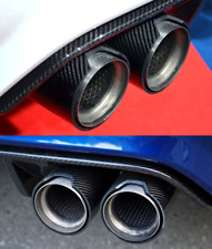 "M Style Matte/Gloss Real Carbon Fiber 3.5"" Exhaust Tips x1 BMW UK SELLER"