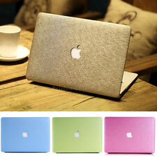 4 Color Silk Leather Hard Case Cover sleeve For Macbook Air Pro 11 12 13 15 ''