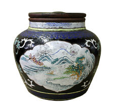 Chinese Zisha Clay Color Scenery Container Jar cs2637