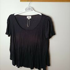 Seed Heritage M Basic Black T-shirt Viscose Business Casual Comfort Stretch