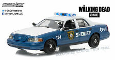 1/43 Greenlight The Walking Dead 2001 Ford Crown Victoria Police Car 86504 Blue