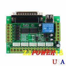 5 Axis CNC Interface Adapter Breakout Board For Stepper Motor Driver Mach3 W/USB