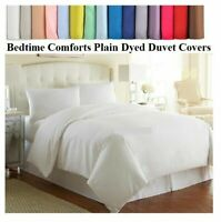KING SIZE 5' High Quality DUVET QUILT COVER + 2 PILLOW CASES.... 20 COLOURS