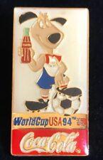 COLLECTORS VINTAGE 1994 USA World Cup Coca Cola Soccer Pin- With Original Card
