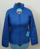 NEW Columbia Mighty Lite Blue Omni-Heat Quilted Full Zip Jacket Women's S