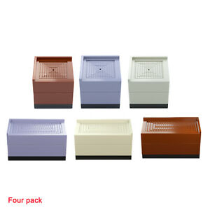 4 Pieces Bed Furniture Risers Desk Lifts Extenders Accessories Support