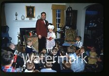 1950s red border kodachrome  Photo slide Magician Phil Thomas  Baltimore MD #1
