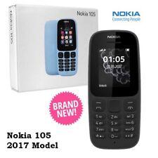 NUOVO Nokia 105 Dual SIM Sbloccato Nero-Sbloccato SIM Gratis Telefono Di Base modello 2017