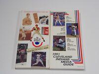 Cleveland Indians Press Media Guide Lot 1990 & 1991
