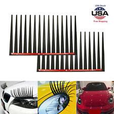 2PCS Funny Smart Headlight Fog Lamp Eyelash Stickers Eyebrow Decal Trim Decor US