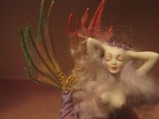 miniature porcelain dollhouse doll lady mermaid tail beautiful seafae mysterious