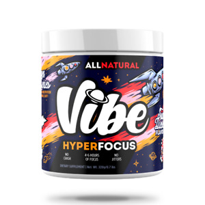 Vibe Hyper Focus Drink Mix 40 Servings, 6 Hours of Energy and Focus All Natural