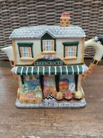 Vintage Ornamental TEAPOT 'Greengrocer' by Leonardo Collection