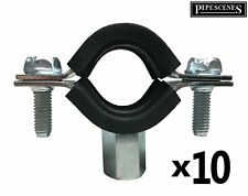 10 x 22mm / 20mm / 25mm MDPE Rubber Lined Munsen Ring Clip Anti Vibration