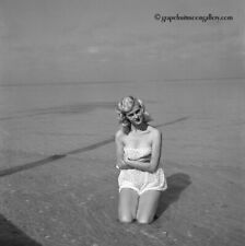 Vintage 1960s Bunny Yeager Beautiful Camera Negative Bathing Beauty Lee Bartley